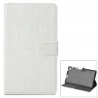 Y7-2-5W Protective 2-Fold PU Leather Case for Google Nexus 7 - White