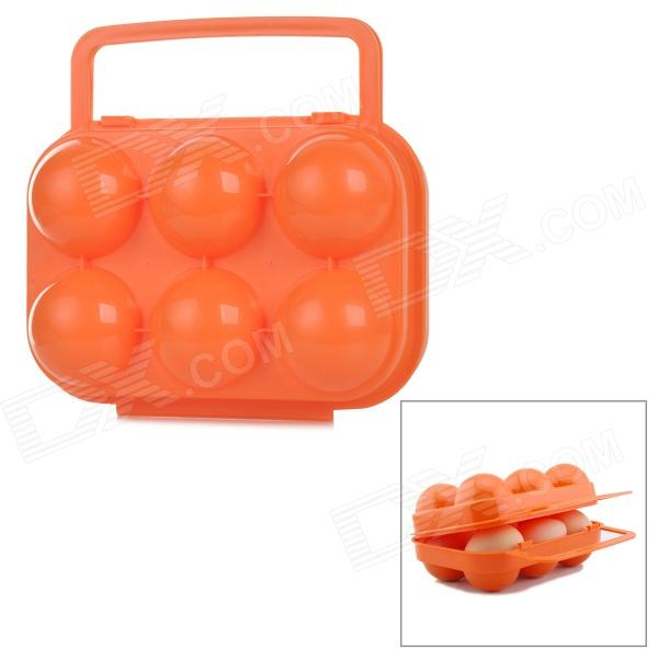 Fuego-Maple FMP-809 6-Compartimiento PP Broken Egg Case Protección para acampar al aire libre - Orange