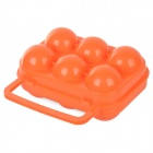 Fire-Maple FMP-809 6-Compartment PP Broken Protection Egg Case for Outdoor Camping - Orange