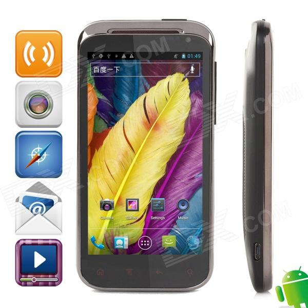 "Tatop w858 Dual-Core Android 4.0 WCDMA Bar Phone w/ 4.3"" Capacitive Screen, Wi-Fi and GPS - Black"