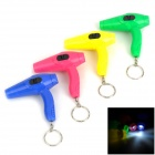 Hair Dryer Style LED White Flashlight Keychains (3 x LR41 / 4 PCS)