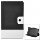 Protective PU Leather Holder Case w/ Card Slot for Google Nexus 7 - Black + White