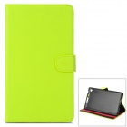 Protective PU Leather Case for Google Nexus 7 - Yellow Green