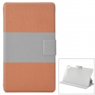 Protective PU Leather 2-Fold Smart Case for Google Nexus 7 - Brown + Grey