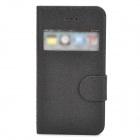 REMAX Protective PU Leather Case w/ Display Window for Iphone 4 / 4S - Black