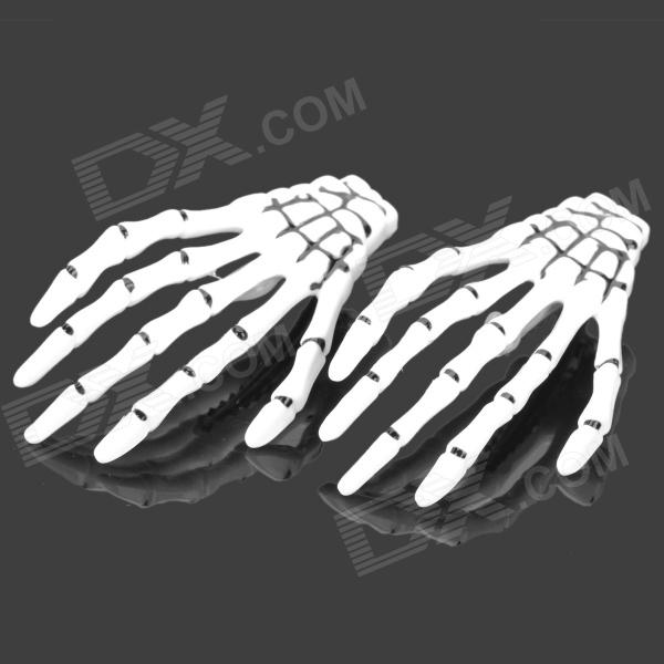 Cool Skeleton Hand Style Decorative Hairpins - Black + White (2 PCS) halloween plastic skeleton frame hanging decoration silver black 4 pcs