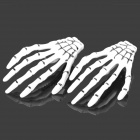 Cool Skeleton Hand Style Decorative Hairpins - Black + White (2 PCS)