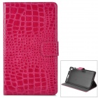 Y7-2-8R Stilvolle Protective PU Case w / Stand + Auto-Sleep für Google Nexus 7 Second - Fuchsia