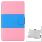 Y7-2-31FL Stylish Protective PU Case w/ Stand + Auto Sleep for Google Nexus 7 Second - Pink + Blue