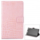 Y7-2-2F Stilvolle Protective PU Case w / Stand + Auto-Sleep für Google Nexus 7 Second - Pink