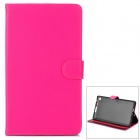 Y7-2-24MH Stylish Protective PU Case w/ Stand + Auto Sleep for Google Nexus 7 Second - Deep Pink