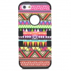 Tribal Ethnic Style Protective Silicone Case for Iphone 5 - Multicolor