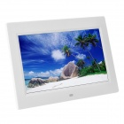 "1012 10"" TFT Digital Photo Frame w/ Built-in Speaker / SD + Remote Control - White"