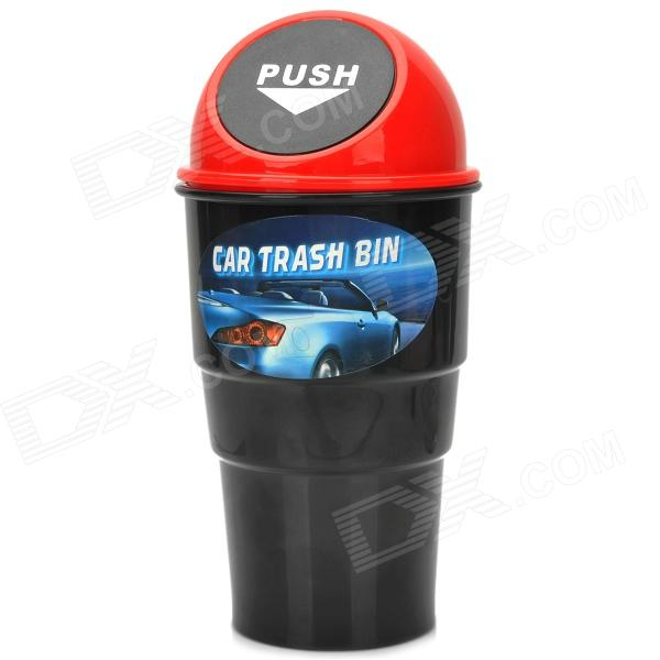 car trash can bin holder w push cover black red free shipping dealextreme. Black Bedroom Furniture Sets. Home Design Ideas