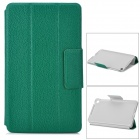 20030103M Lychee Pattern Protective PU Case w/ Stand for Google Nexus 7 II - Moss Green