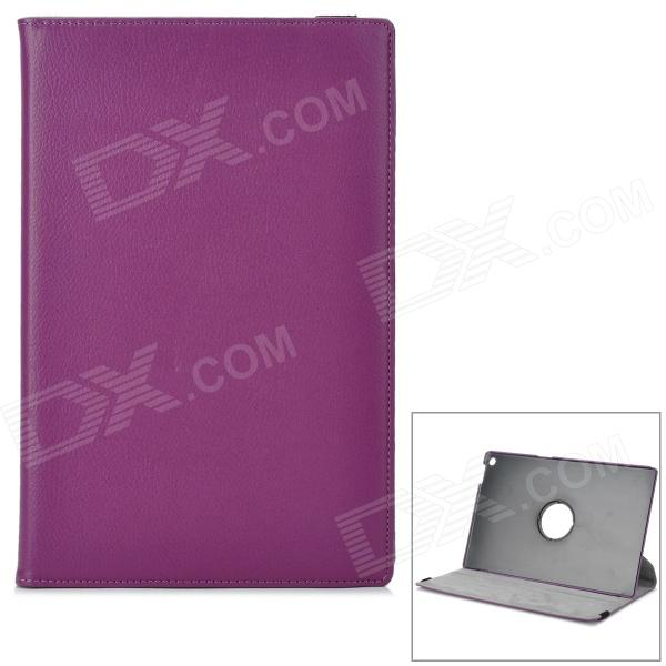 Lychee Pattern Protective Rotary  PU Case w/ Stand for Sony Xperia Tablet Z - Purple sony xperia m в спб purple
