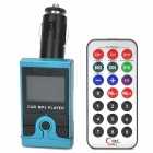 "Car Cigarette Charger Style 1.4"" LCD FM MP3 Player w/ TF / SD / USB + Remote Control - Blue + Black"