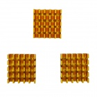 High Performance Anodized Aluminium Heatsink Radiator - Golden (22 x 22 x 10mm / 3 PCS)