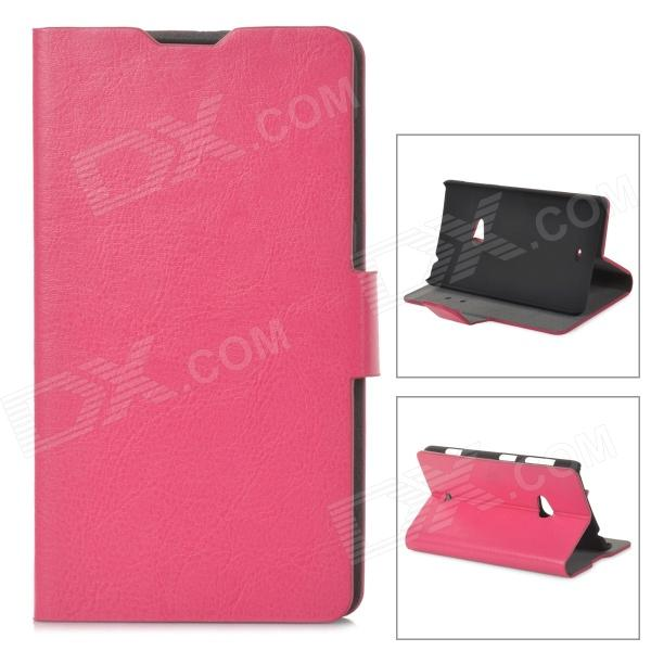 Protective PU Leather Flip Open  Case for Nokia Lumia 625  - Deep Pink nillkin protective pu leather pc flip open case for nokia lumia 535 white