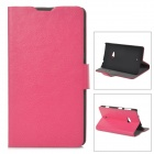 Protective PU Leather Flip Open  Case for Nokia Lumia 625  - Deep Pink