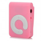 Yomak X1 Tragbare Mini-Clip-on-TF-Karte MP3-Player w / Mini USB - Pink + White (16GB)