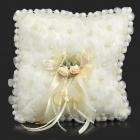 Sweat Romantic Corsage Decorated Wedding Ring Cushion / Pillow - White