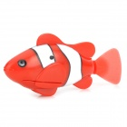 Electric Water Activated Magical Fish Toy +  Artificial Water Plant for Kids - Red + White + Black