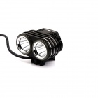 NITEFIRE NFC-27 1200lm 3-Mode White Bicycle Light Headlamp w/ 2 x Cree XM-L T6 - Black (4x18650)