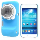 Protective Hollow-out Matte PC Back Case for Samsung Galaxy S4 Zoom/ SM-C1010 - Blue
