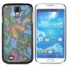 Protective 3D Butterfly Plastic Back Case for Samsung Galaxy S4 - Black