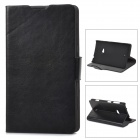 Protective PU Leather Flip Open Case for Nokia Lumia 625 - Black
