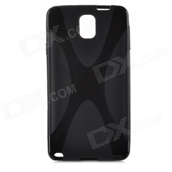 Protective TPU Back Case for Samsung Galaxy Note III / N9005 - Black 2 in 1 detachable protective tpu pc back case cover for samsung galaxy note 4 black