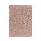 Honeycomb Texture Style Protective PU Leather Case Cover Stand w/ Auto-Sleep for Ipad MINI - Golden