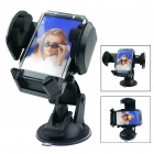 360 Degree Rotation Car Suction Cup Stand Holder Mount Bracket for GPS / Cell Phone + More - Black