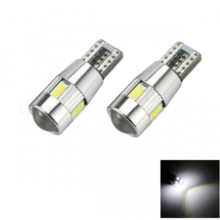 T10 3W 144lm 6 x SMD 5630 LED Error Free Canbus White Light Car Lamp - (DC 12V / 2 PCS) flytop 10 x t10 canbus 5smd 5050 smd error free car bulb w5w 194 led lamp auto rear light white blue yellow red color can bus