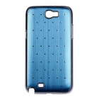 Rhombus Twill Style Protective Plastic Back Case for Samsung Galaxy Note 2 N7100 - Blue + Silver
