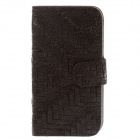 Universal Weave Style Mobile Phone PU Leather Case - Black