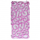 Electroplate Vines Style Protective Plastic Back Case for iPhone 5 - Pink