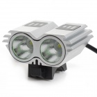 LetterFire LF-22 1000lm 3-Mode White Bicycle Headlight w/ 2 x CREE XM-L T6 - Silver (4 x 18650)