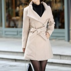 Laibida Fashionable Autumn Winter Long Thicken Coat for Women - Apricot (Size-L)
