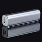 CGIG A1 High-Quality Delicate 2600mAh Mobile Power Source Bank for Iphone / Samsung + More - Silver