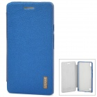 USAMS Stylish Flip-open PU Leather Case for Huawei Ascend P6 - Deep Blue