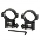 KDZ-023 30mm-20mm Adjustable Gun Optical Sight Flashlight Mount Holder Clip - Black