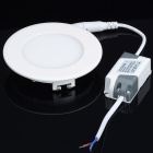 Lámpara de techo de 6W 330lm 6000K LED blanco Ronda Light w / Driver LED - Blanco (AC 110 ~ 240)