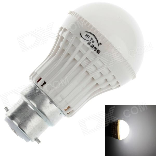 ZIYU ZY-QP-054 B22 3W 200lm 6500K 9 x SMD 2835 LED White Light Lamp Bulb - White + Silver (220V)