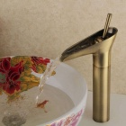 YDL-F-0505 Winebowl Style Antique Brass Hot / Cold Faucet - Bronze