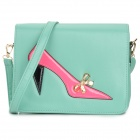 High-Heeled Shoe Pattern Fashionable Women's PU One-Shoulder Bag - Green