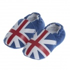 R640 Original Union Flag Pattern Baby Shoes - Blue + White + Red (0~6 Months / Pair)