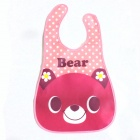 Pink Bear Waterproof Bib - Multicolored