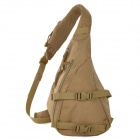 Free Soldier Outdoor Waterproof 1000D Nylon Tactical Single Shoulder Strap Triangle Backpack - Brown